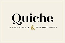 Quiche Font Family by Adam Ladd in Sans Serif Fonts