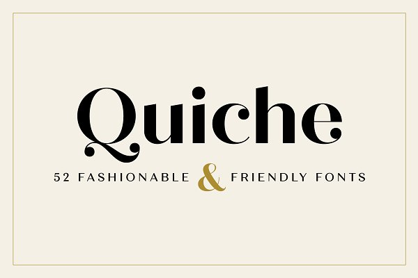 Sans Serif Fonts: Adam Ladd - Quiche Font Family