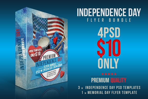 independence day flyer bundle flyers