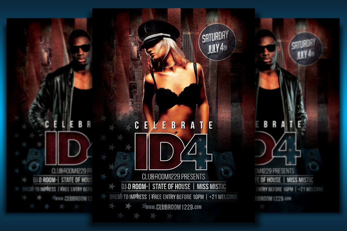 Independence Day Flyer Bundle in Flyer Templates - product preview 1