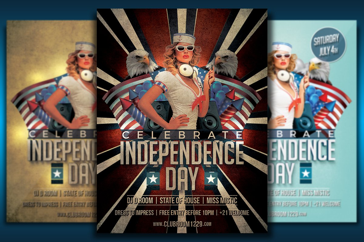 Independence Day Flyer Bundle in Flyer Templates - product preview 2
