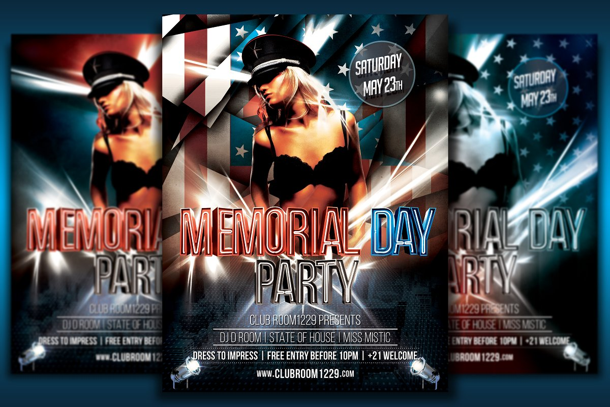 Independence Day Flyer Bundle in Flyer Templates - product preview 3