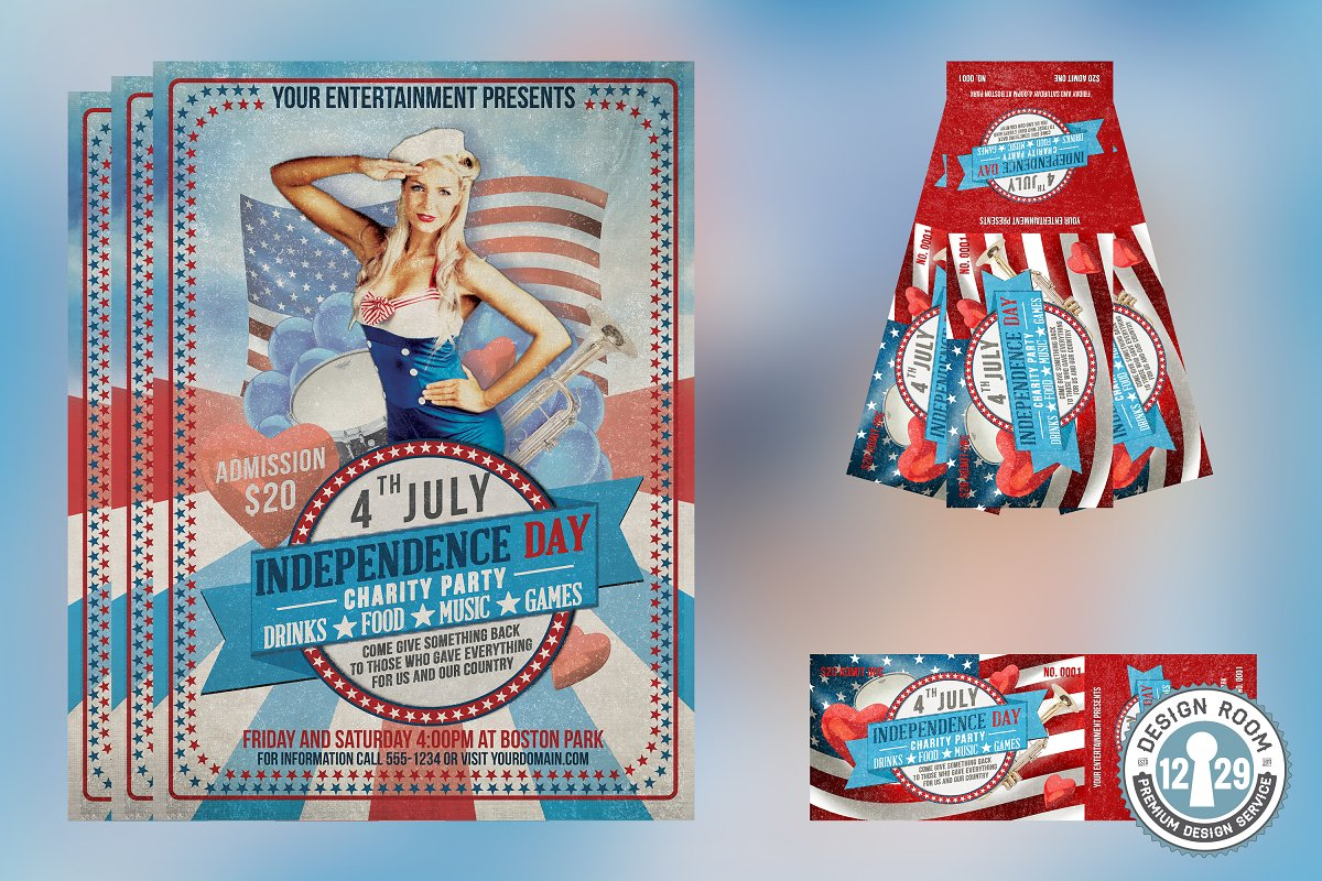 Independence Day Flyer Bundle in Flyer Templates - product preview 4