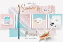 Summerish Illustrated Instagram Pack by Diana Hlevnjak in Social Media