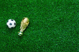 Table top view soccer or football.