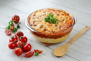 Polenta wth tomato sauce