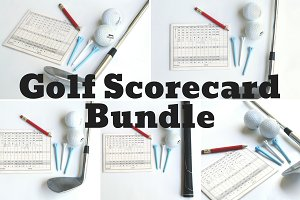 Golf Scorecard Photo Bundle