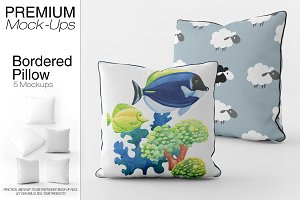 Bordered Square Pillow Mockup Pack