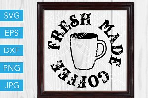 Fresh Coffee SVG Cut File