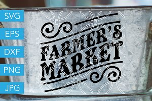 Farmers Market SVG Cut File