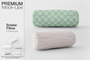 Bolster Pillow Mockup Pack