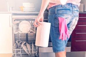 Working with washing machine