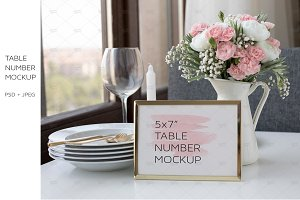 5x7 Table Number Card Mockup