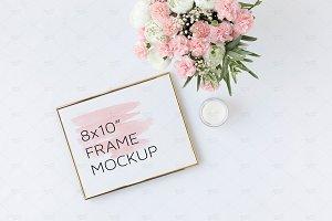 Floral Frame Mockup