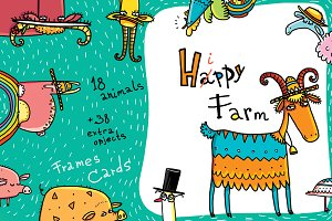 Happy Farm - Animals and Flowers