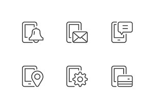 Set icons of mobile phone functions