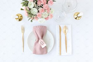 Blush Wedding Place Card Mockup
