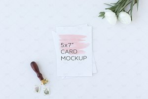 A7 Stationery Card Mockup