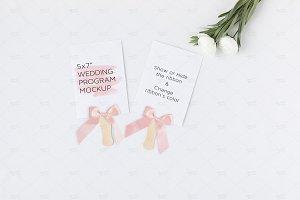 Wedding Program Mockup PSD