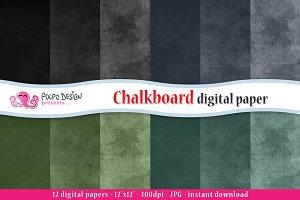 Chalkboard digital paper