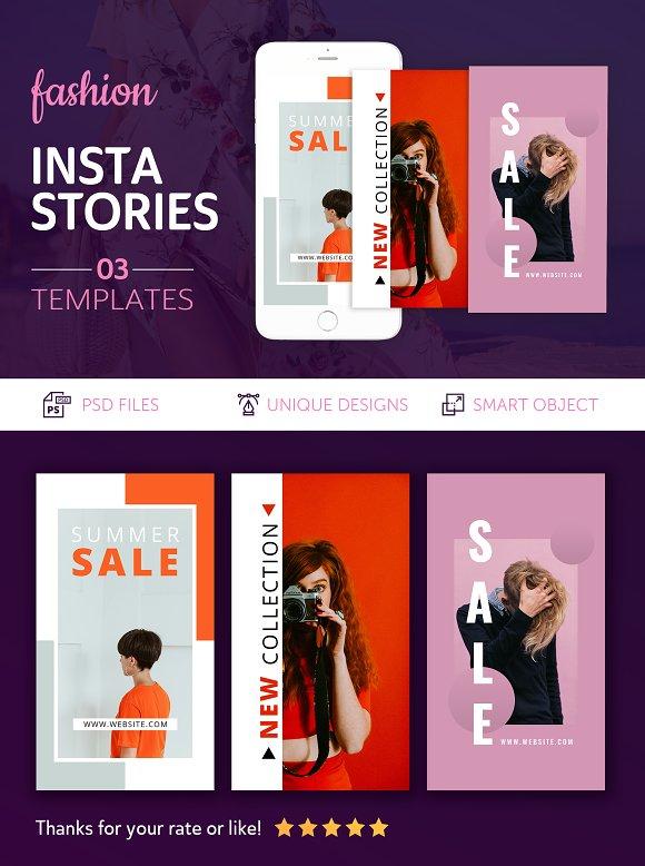 Fashion Instagram Stories in Instagram Templates