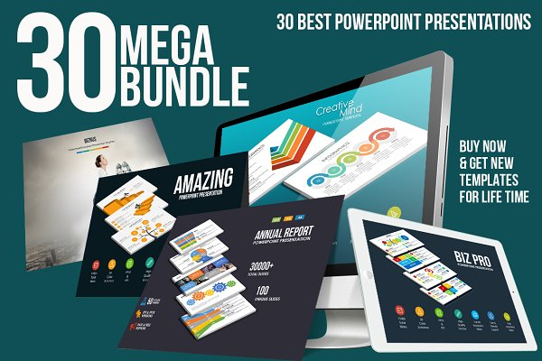 Mega Bundle 30 Powerpoint Templates