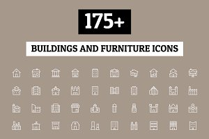 175+ Buildings and Furniture Icons