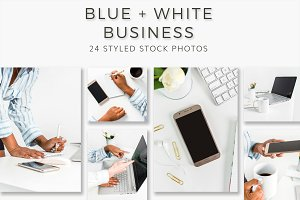 Blue & White Business Stock Photos