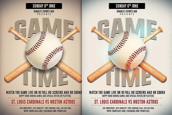baseball game flyer template flyer templates creative market