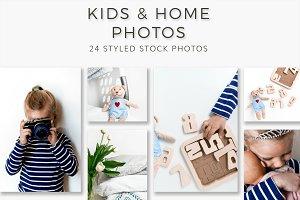 Kids & Home Stock Photos