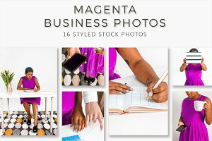 Bright Magenta Business Styled Stock