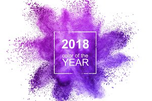 Powder Ultraviolet on a white background. Color of the Year 2018 Pantone