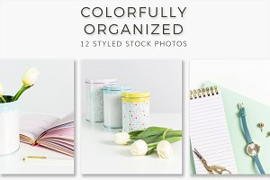 Colorfully Organized Stock Photos