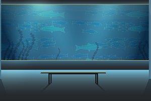 Aquarium with Fish Scene