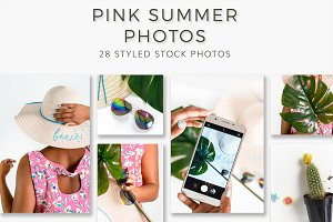 Pink Summer Inspired Stock Photos