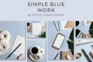 Simple Blue - Styled Stock Photos