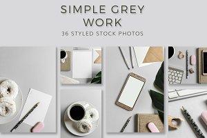 Simple Grey Business - Stock Photos