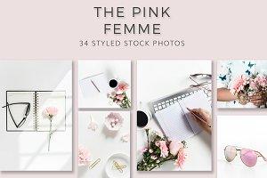 Pink Femme Blog Stock photos