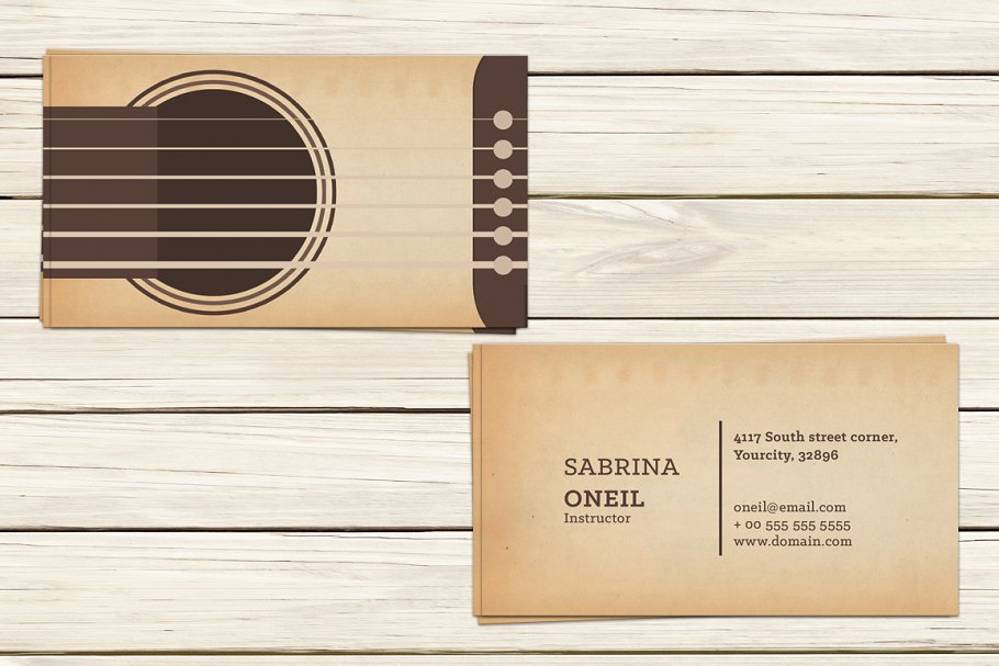 Guitar lessons business card templat business card templates guitar lessons business card templat reheart Images
