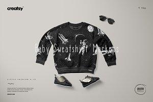 Baby Sweatshirt Mockup Set 2