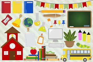 School Clipart Back to School Vector