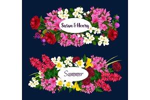 Vector floral design for wedding or summertime