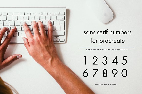 Procreate Sans Serif Type Kit 3