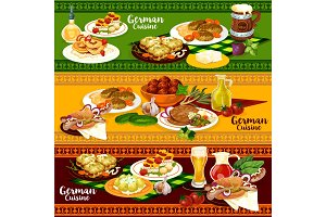 German cuisine restaurant banner for Oktoberfest