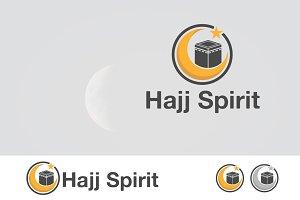 Crescant with Kaba Hajj Spirit Logo