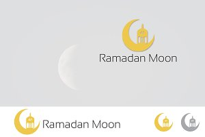 Crescent Moon and Lantern Logo