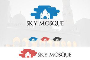 Mosque Dome in Cloud Logo