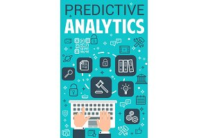 Vector internet predictive analytics poster