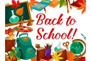 Back to School vector education season poster