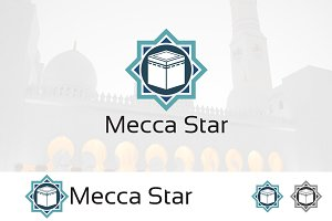 Mecca Kaba Star Islamic Logo